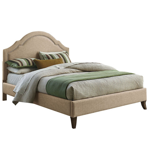 Standard Furniture Simplicity Cathedral Upholstered Platform Bed in Linen