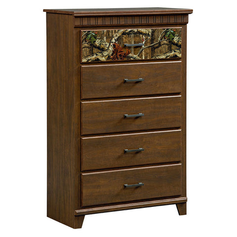 Standard Furniture Solitude 5 Drawer Chest in Rustic Brown