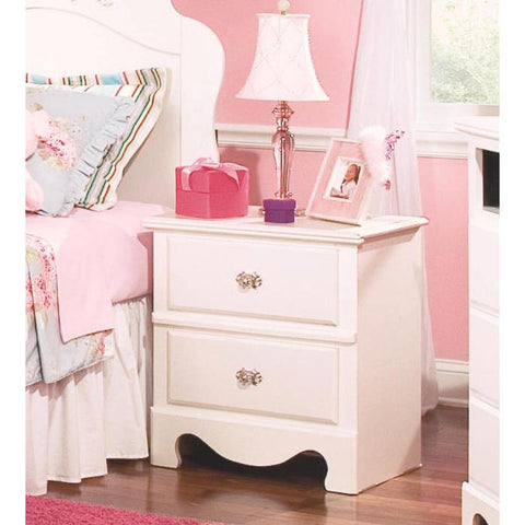Standard Furniture Spring Rose 23 Inch Nightstand in White