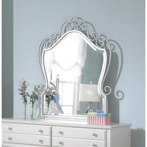 Standard Furniture Spring Rose 35 Inch Mirror in White