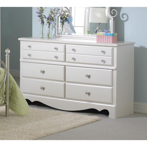 Standard Furniture Spring Rose 54 Inch Dresser in White