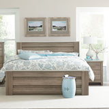 Standard Furniture Stonehill 2 Piece Mansion Bedroom Set in Weathered Oak