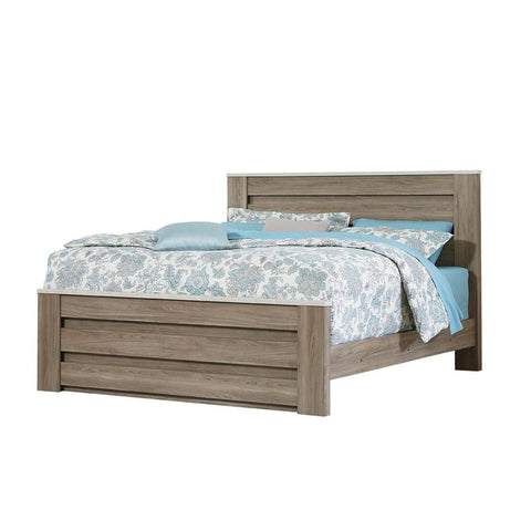 Standard Furniture Stonehill Mansion Bed in Weathered Oak