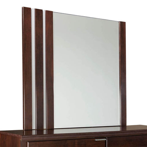 Standard Furniture Strata Rectangular Mirror in Warm Brown