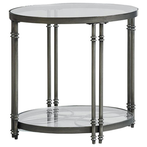 Standard Furniture Terrazza End Table in Chrome Nickel