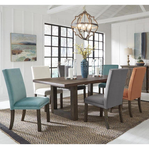 Standard Furniture Trenton 7 Piece Brown Trestle Dining Rom Set