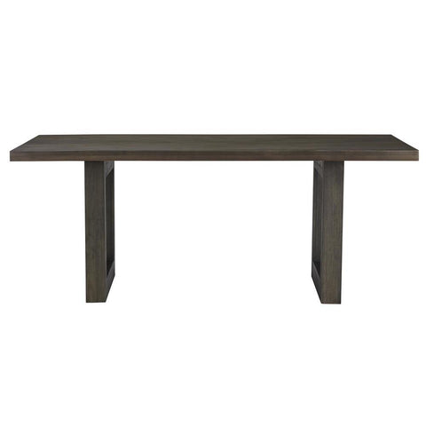 Standard Furniture Trenton 78 Inch Brown Trestle Dining Table