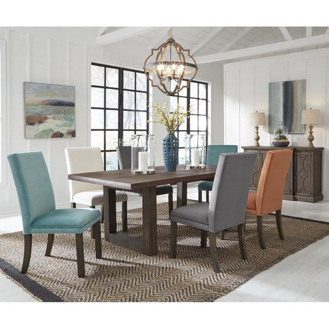 Standard Furniture Trenton 8 Piece Brown Trestle Dining Rom Set