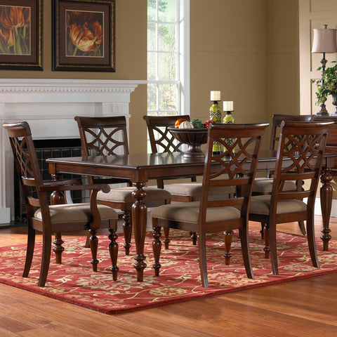 Standard Furniture Woodmont 7 Piece Leg Dining Room Set w/ Arm Chairs