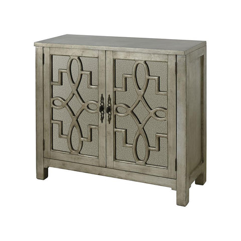 Stein World 2 Door Cabinet in Silver Leaf