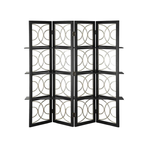Stein World 4 Panel Screen Black Finish