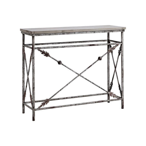 Stein World Arrowdale Console Table in Gray & Wood-Tone