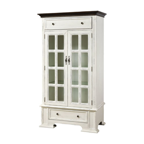 Stein World Hartford 2-Drawer 2-Door Cabinet with 3 Inner Shelves - White