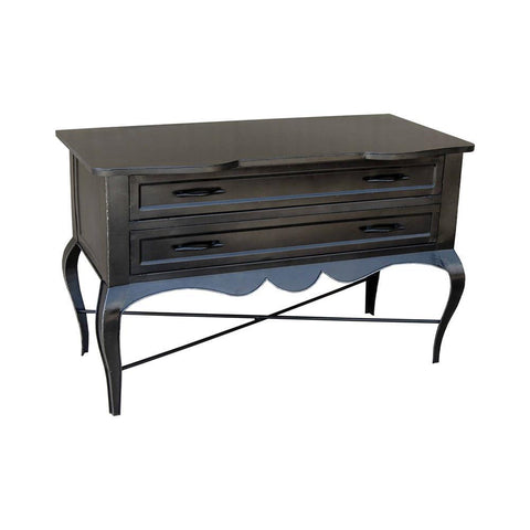 Stein World Iron and wood 2 Drawer Table