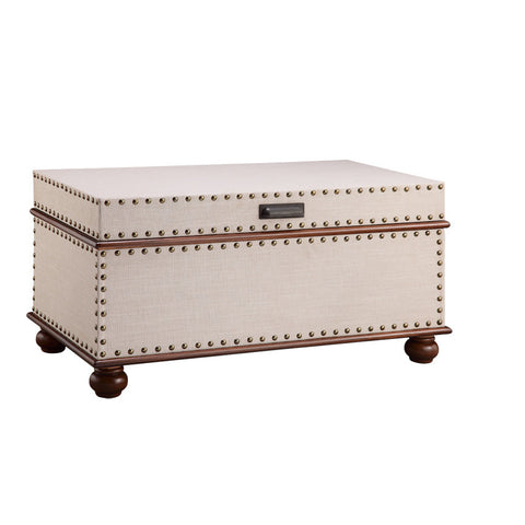 Stein World Linen Trunk with Nailhead Detail