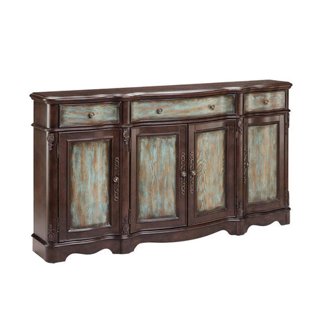 Stein World Lyle Four Door Sideboard Brown & Blue
