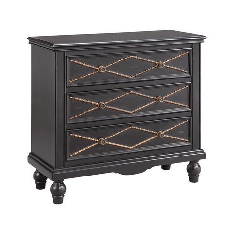 Stein World Marley Chest in Hand-Painted & Black & Burnished Gold