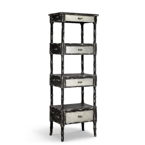Stein World Zornes Three Drawer, Three Shelf Etagere In Black