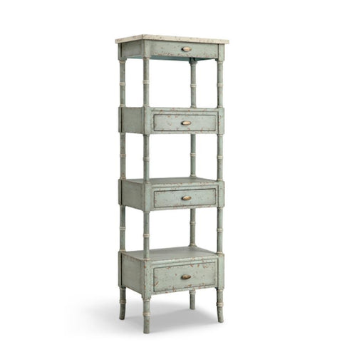 Stein World Zornes Three Drawer, Three Shelf Etagere In Blue