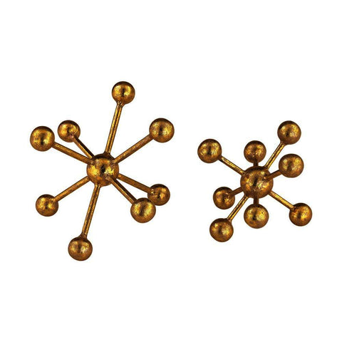 Sterling Decorative Gold Molecules
