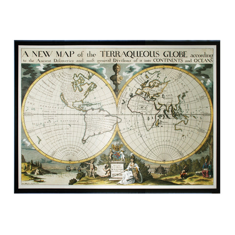 Sterling Industries 10222-S1 Map of Terrqueous Globe - Oxford