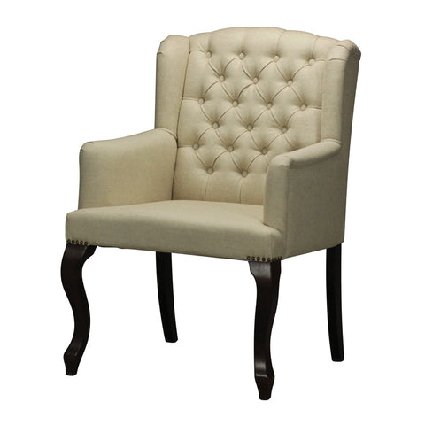 Sterling Industries 133-007 Linen Tuffted Arm Chair
