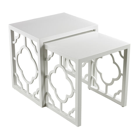 Sterling Industries 136-007/S2 Gloss White Nesting Table