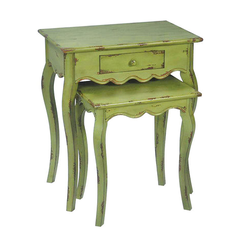 Sterling Industries 51-0021 Set/2 Verde Stacking Tables