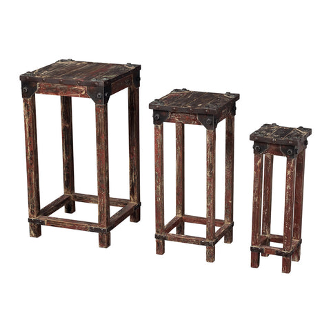Sterling Industries 51-10035/S3 Set Of 3 Distressed Finish Stacking Tables