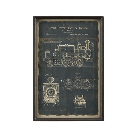 Sterling Industries Chronicle Framed Print - Locomotive