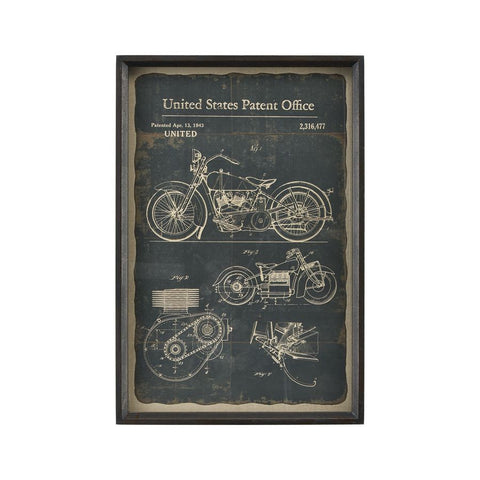 Sterling Industries Chronicle Framed Print - Moto