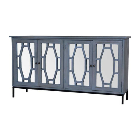 Sterling Presidio Cabinet II In Gravesend Grey - Large