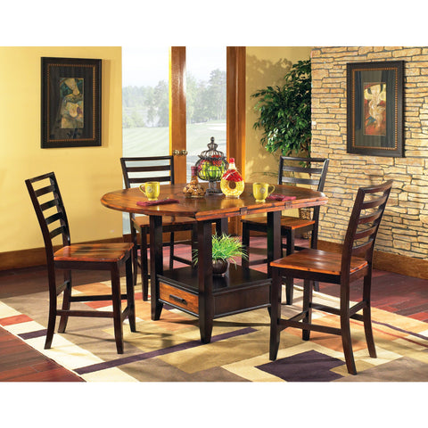 Steve Silver Abaco 5 Piece Drop Leaf Counter Height Set