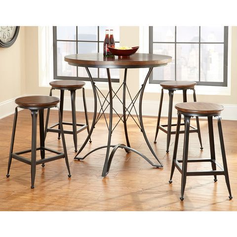 Steve Silver Adele 5 Piece Counter Height Table Set in Birch