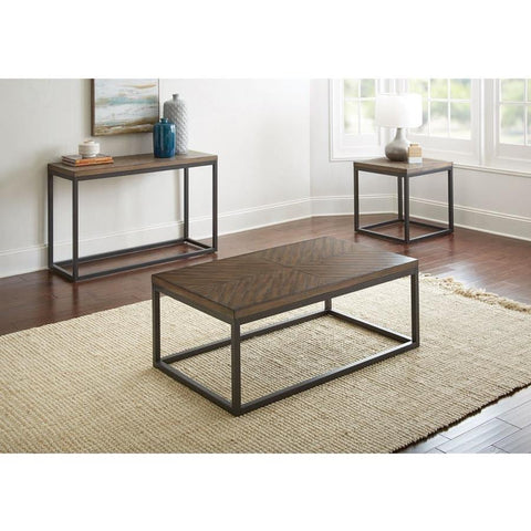 Steve Silver Aleka 3 Piece Coffee Table Set