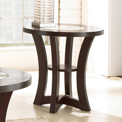 Steve Silver Alice End Table in Espresso