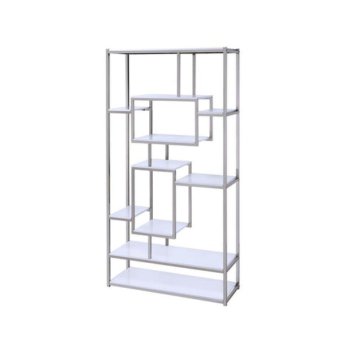 Steve Silver Alize Bookcase in White