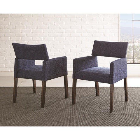 Steve Silver Amalie Side Chair in Navy