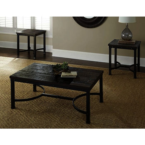 Steve Silver Ambrose 3 Piece Coffee Table Set in Rustic Honey