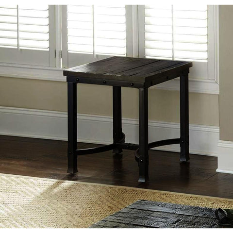 Steve Silver Ambrose End Table in Rustic Honey