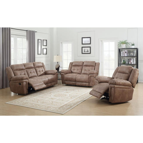 Steve Silver Anastasia 3 Piece Reclining Living Room Set in Cocoa