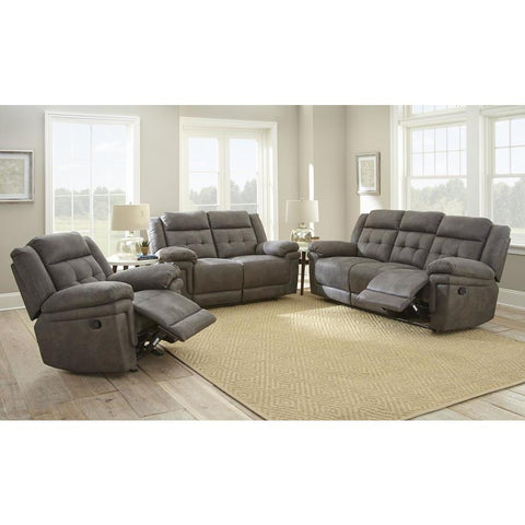Steve Silver Anastasia 3 Piece Reclining Living Room Set in Grey