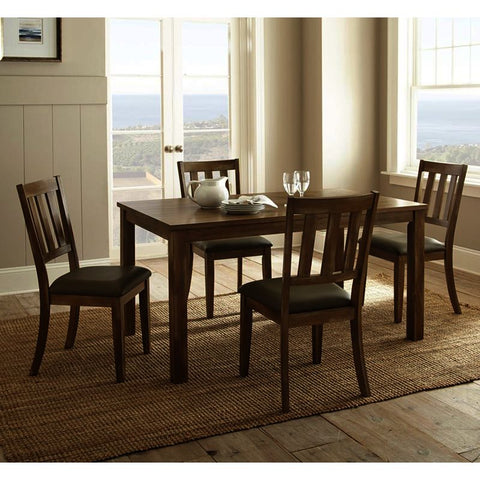 Steve Silver Ander 5 Piece Dining Room Set in Washed Pine