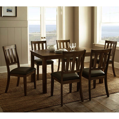 Steve Silver Ander 7 Piece Dining Room Set in Washed Pine