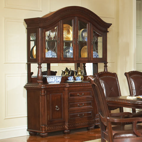 Steve Silver Antoinette Buffet w/ Hutch in Rich Cherry