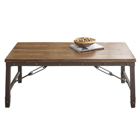Steve Silver Ashford Rectangular Cocktail Table in Antiqued Honey