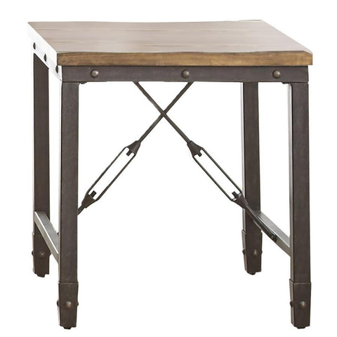 Steve Silver Ashford Square End Table in Antiqued Honey