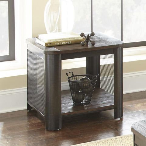 Steve Silver Barrow End Table in Mocha