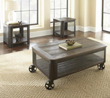 Steve Silver Barrow Lift Top Cocktail Table w/Casters in Mocha