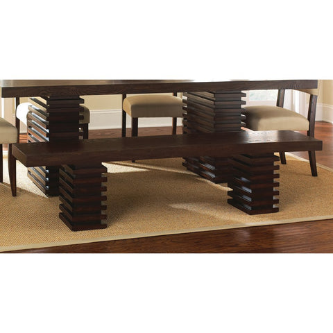 Steve Silver Briana Bench in Dark Espresso Cherry
